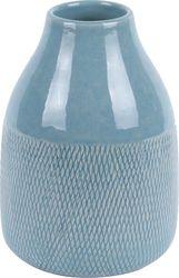 Vase - Crackle - Jeans Blau - Keramik - 13 x 18 cm - Present Time